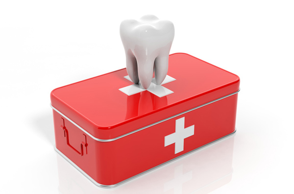 Rendering of a tooth on an emergency kit at Wanserski Dental Center for Complex Dentistry in Wausau, WI